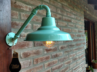 Lámpara Galponera Vintage Retro Vieja Eddie Lamparas Vintage Vieja Eddie Paredes y pisosDecoración de paredes Hierro/Acero Verde