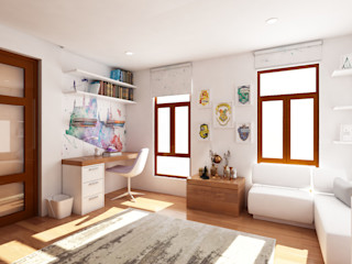 Interior works: Bedroom ABG Architects and Builders Modern style bedroom