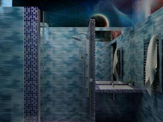 Цунёв_Дизайн. Студия интерьерных решений. Baños eclécticos Azul