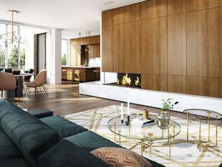 Innenarchitektur 3D-Visualisierung winhard 3D Moderne Wohnzimmer