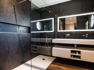 Pixcity 現代浴室設計點子、靈感&圖片 Black