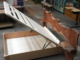 Gli Artigiani dei f.lli M.& S. Cordi snc BedroomBeds & headboards Solid Wood Grey