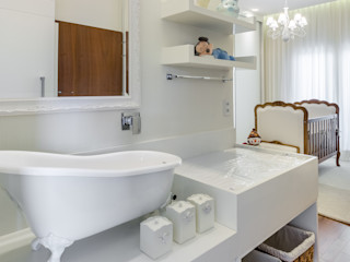 okha arquitetura e design Baby room Wood Beige