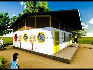 Anganwadi Design Urban Shaastra Rustic style schools Iron/Steel