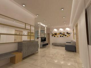 Residence Urban Shaastra Minimalist living room Tiles