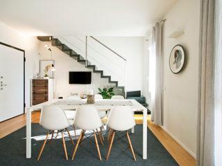 13FG Chantal Forzatti architetto Sala da pranzo moderna Bianco