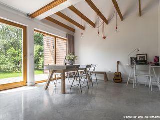 Bautech Sp. Z O.O. Modern Oturma Odası Beton Gri
