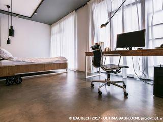 Bautech Sp. Z O.O. Modern Çalışma Odası Beton Gri