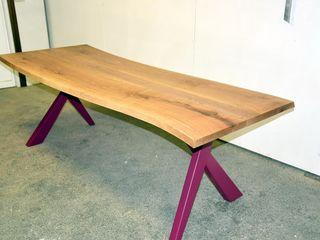 Gli Artigiani dei f.lli M.& S. Cordi snc Dining roomTables Iron/Steel Purple/Violet