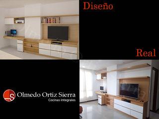 Cocinas Integrales Olmedo Ortiz Sierra غرفة المعيشةخزانات التلفزيون الجانبية ألواح خشب مضغوط Multicolored