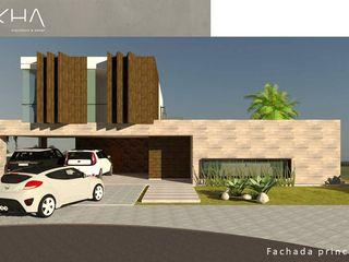 okha arquitetura e design Single family home Wood White