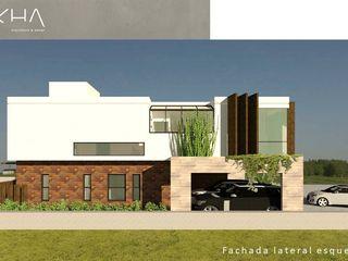 okha arquitetura e design Single family home Wood Beige