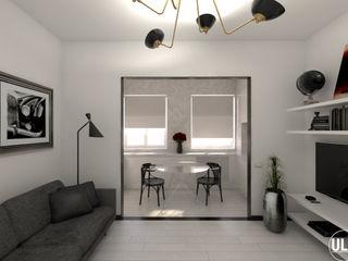 ULA architects غرفة المعيشة Black