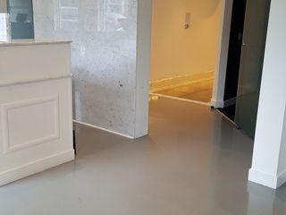 Shine Star Flooring الممر الحديث، المدخل و الدرج