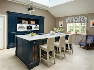 Audley   Georgian Country House Davonport Built-in kitchens Blue