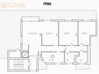Planimetria appartamento allo stato di fatto Alessandro Jurcovich Architetto