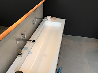 innenarchitektur-rathke BathroomLighting Engineered Wood Grey