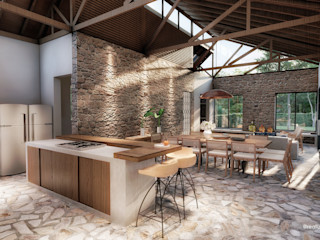 realizearquiteturaS Country style dining room