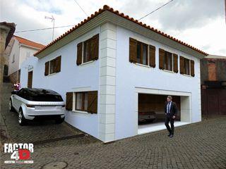 Moradia Unifamiliar T3@Tarouca Factor4D - Arquitetura, Consultadoria & Gestão Casas unifamilares