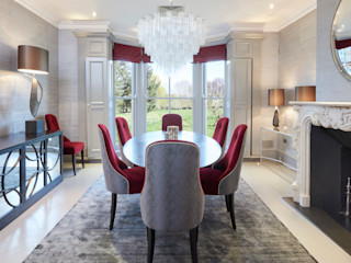 SHROPSHIRE Suzanne Tucker Interiors 餐廳配件與裝飾品 Metallic/Silver