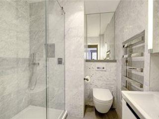St James' central London Suzanne Tucker Interiors 現代浴室設計點子、靈感&圖片 大理石 Grey