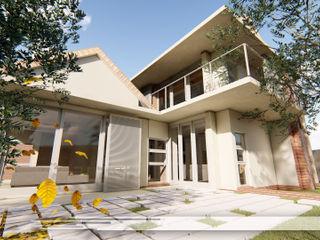 Property Commerce Architects Modern balcony, veranda & terrace