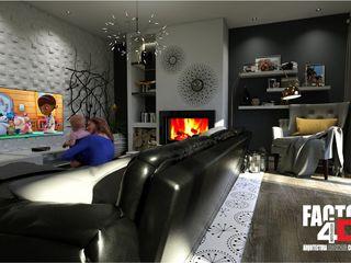 Virtual3D Factor4D - Arquitetura, Consultadoria & Gestão Salas de estar modernas