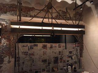 WE-Maatdesign Dining roomLighting Kayu Wood effect