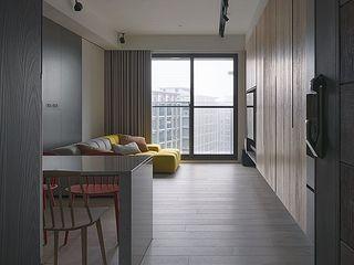 禾光室內裝修設計 ─ Her Guang Design Modern Corridor, Hallway and Staircase Black