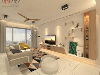 Scandinavian Design . Condominium inDfinity Design (M) SDN BHD Living room