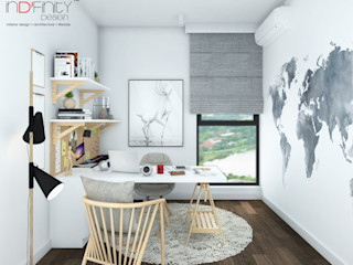 Scandinavian Design . Condominium inDfinity Design (M) SDN BHD Scandinavian style study/office