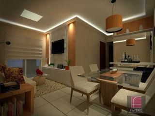 Fávero Arquitetura + Interiores Modern dining room