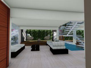 Quinta La Revoltosa Vida Arquitectura Paredes y pisos de estilo moderno Piedra
