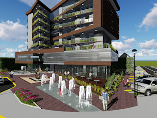 Edificio multifamiliar. Arquitectura Bioclimatica Vida Arquitectura Casas ecológicas Piedra