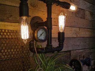 Lamparas Estilo Industrial Vintage Vieja Eddie Argentina Lamparas Vintage Vieja Eddie LivingsIluminación Hierro/Acero Negro