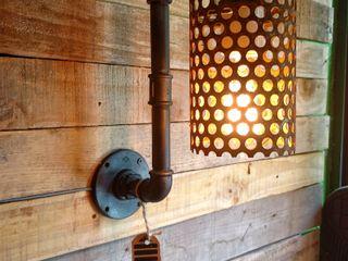 Lamparas Estilo Industrial Vintage Vieja Eddie Argentina Lamparas Vintage Vieja Eddie Pasillos, vestíbulos y escaleras Iluminación Hierro/Acero Ámbar/Dorado