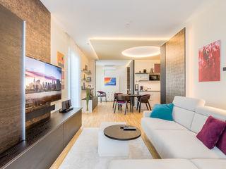 Kleinere Stadtwohnung mit viel Funktion Horst Steiner Innenarchitektur Moderne Wohnzimmer