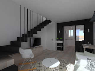 Duplex 62m² - Rue des Alpes SAS Alexandre TRIPIER Salon scandinave
