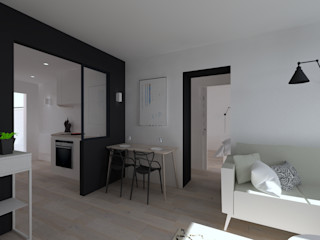Duplex 62m² - Rue des Alpes SAS Alexandre TRIPIER Cuisine scandinave