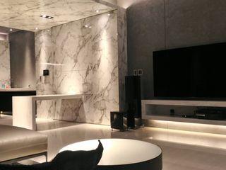 勻境設計 Unispace Designs Modern living room Grey