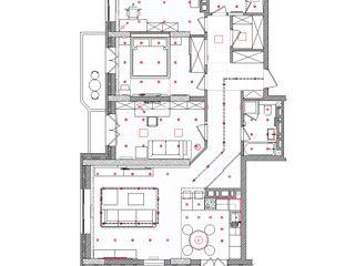 TOPOS. Apartments 105 q.m. nadine buslaeva interior design Minimalistische Wände & Böden