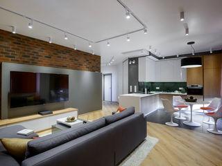 TOPOS. Apartments 105 q.m. nadine buslaeva interior design Minimalistische Wohnzimmer