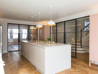 Urban rustic style - Victorian villa, Hammersmith My-Studio Ltd Einbauküche MDF Weiß