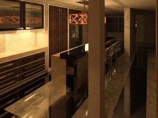 REMODELACION DE VIVIENDA. ESTUDIO KULUMAK Cocinas de estilo ecléctico Concreto