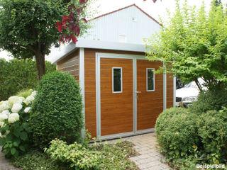 Trapezblech Gonschior oHG Modern Garden Metal Wood effect