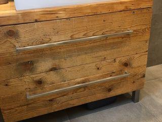 woodesign Christoph Weißer Casa de banhoArrumação Madeira Castanho