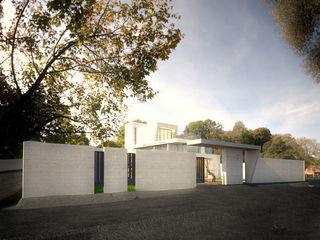 勻境設計 Unispace Designs Country house Concrete White