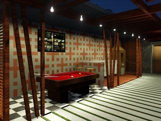 Detalhe Arquitetura e Engenharia Tropical style balcony, veranda & terrace Wood