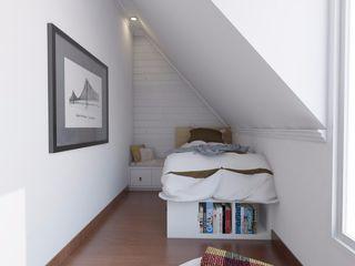 SARAÈ Interior Design BedroomBeds & headboards Plywood White
