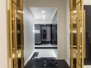 캐러멜라운지 現代風玄關、走廊與階梯